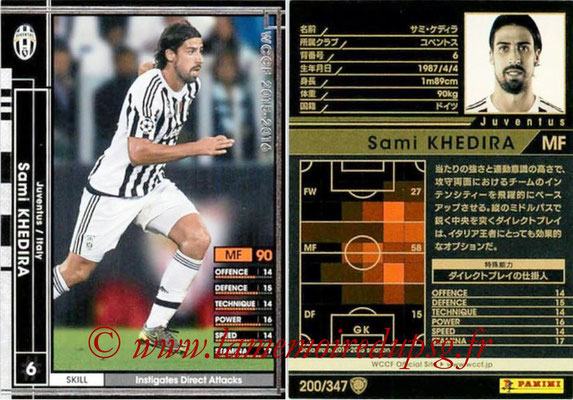 2015-16 - Panini WCCF - N° 200 - Sami KHEDIRA (Juventus FC)