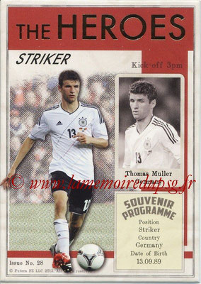2013 - Futera World Football Unique - N° HER28 - Thomas MULLER (Allemagne) (Striker) (The Heroes)