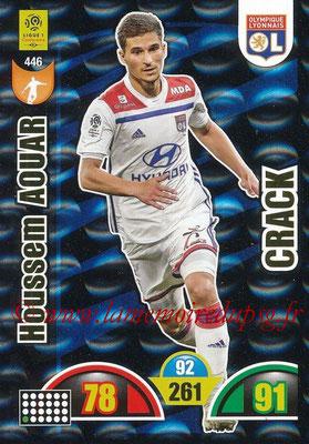 2018-19 - Panini Adrenalyn XL Ligue 1 - N° 446 - Houssem AOUAR (Lyon) (Crack)