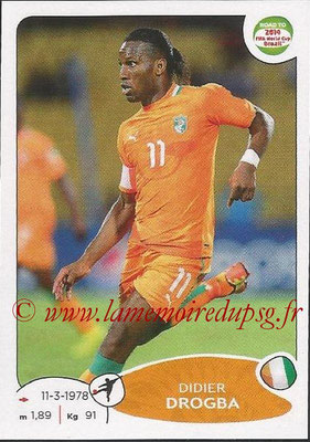 2014 - Panini Road to FIFA World Cup Brazil Stickers - N° 393 - Didier DROGBA (Côte d'Ivoire)