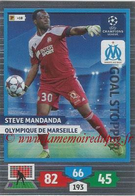 2013-14 - Adrenalyn XL champions League N° 330 - Steve MANDANDA (Olympique de Marseille) (Goal Stopper)
