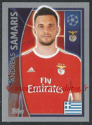 2015-16 - Topps UEFA Champions League Stickers - N° 167 - Andreas SAMARIS (SL Benfica)