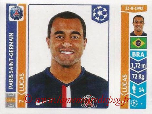 2014-15 - Panini Champions League N° 451 - LUCAS (Paris Saint-Germain)