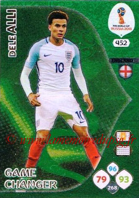 2018 - Panini FIFA World Cup Russia Adrenalyn XL - N° 452 - Dele ALLI (Angleterre) (Game Changer)