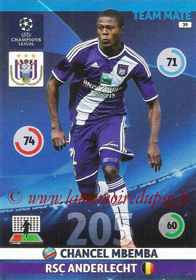2014-15 - Adrenalyn XL champions League N° 039 - Chancel MBEMBA (RSC Anderlecht)