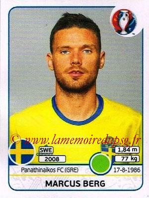 Panini Euro 2016 Stickers - N° 565 - Marcus BERG (Suède)