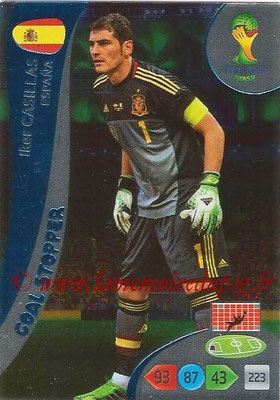 2014 - Panini FIFA World Cup Brazil Adrenalyn XL - N° 357 - Iker CASILLAS (Espagne) (Goal Stopper)