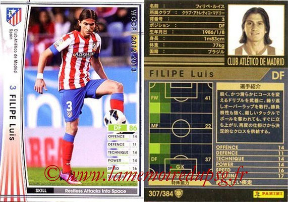 2012-13 - WCCF - N° 307 - Filipe LUIS (Atletico  Madrid)