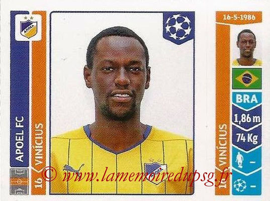 2014-15 - Panini Champions League N° 477 - VINICIUS (Apoel FC)