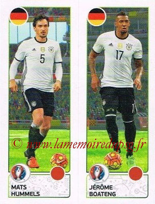 Panini Euro 2016 Stickers - N° 263 - Mats HUMMELS +  Jérôme BOATENG (Allemagne)