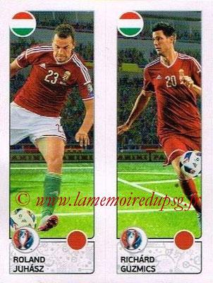Panini Euro 2016 Stickers - N° 657 - Roland JUHASZ + Richard GUZMICS (Hongrie)