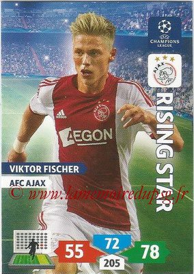 2013-14 - Adrenalyn XL champions League N° 036 - Viktor FISCHER (AFC Ajax) (Rising Star)