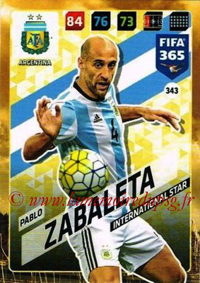 2017-18 - Panini FIFA 365 Cards - N° 343 - Pablo ZABALETA (Argentine) (International Star)