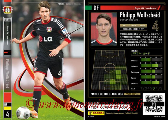 Panini Football League 2014 - PFL07 - N° 094 - Philipp WOLLSCHEID (Bayer Leverkusen) (Star)