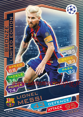 2016-17 - Topps UEFA Champions League Match Attax - N° LEPB - Lionel MESSI (FC Barcelone) (Limited Edition Bronze)