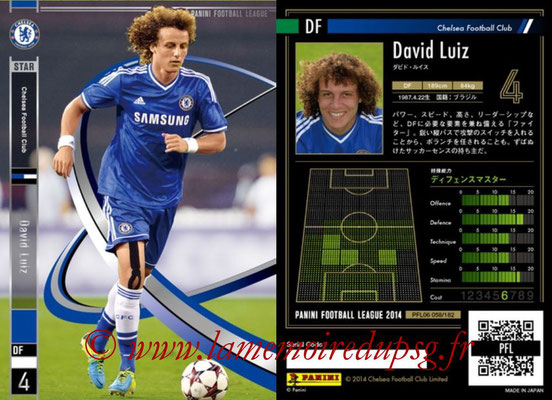 Panini Football League 2014 - PFL06 - N° 058 - David LUIZ (Chelsea FC) (Star)