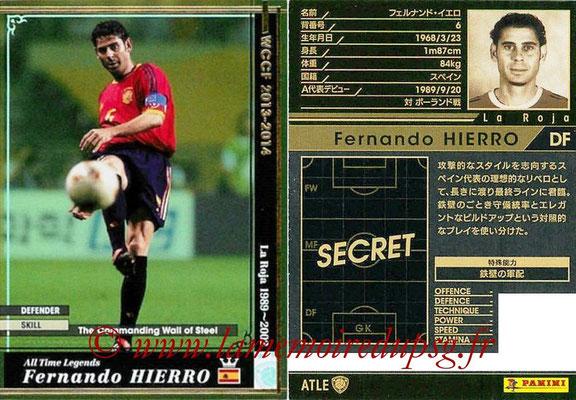 2013-14 - WCCF - N° ATLE12 - Fernando HIERRO (Espagne) (All Time Legend)