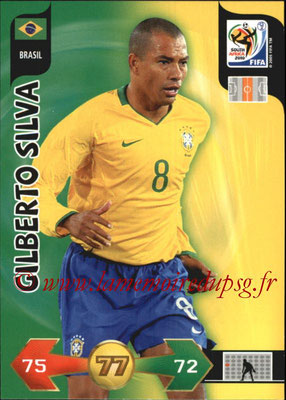 2010 - Panini FIFA World Cup South Africa Adrenalyn XL - N° 040 - Gilberto SILVA (Bresil)