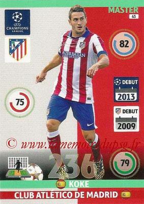 2014-15 - Adrenalyn XL champions League N° 063 - KOKE (Atletico Madrid) (Master)