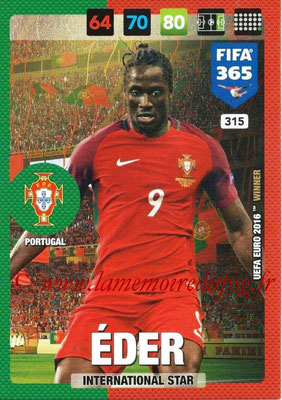2016-17 - Panini Adrenalyn XL FIFA 365 - N° 315 - EDER (Portugal) (International Star)