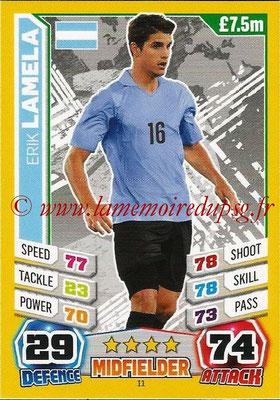 Topps Match Attax England 2014 - N° 011 - Erik LAMELA (Argentine)
