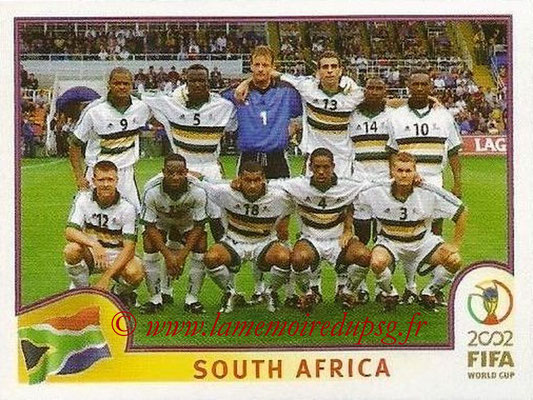 2002 - Panini FIFA World Cup Stickers - N° 151 - Equipe Afrique du Sud