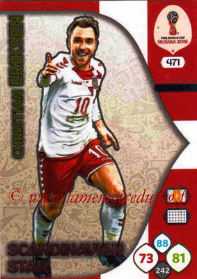 2018 - Panini FIFA World Cup Russia Adrenalyn XL - N° 471 - Christian ERIKSEN (Danemark) (Scandinavian Star) (Nordic Edition)