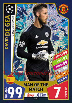 2017-18 - Topps UEFA Champions League Match Attax - N° 405 - David DE GEA (Manchester United FC) (Man Of the Match)