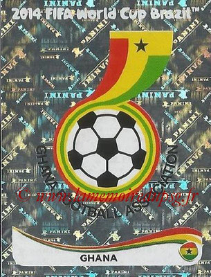 2014 - Panini FIFA World Cup Brazil Stickers - N° 526 - Ecusson Ghana