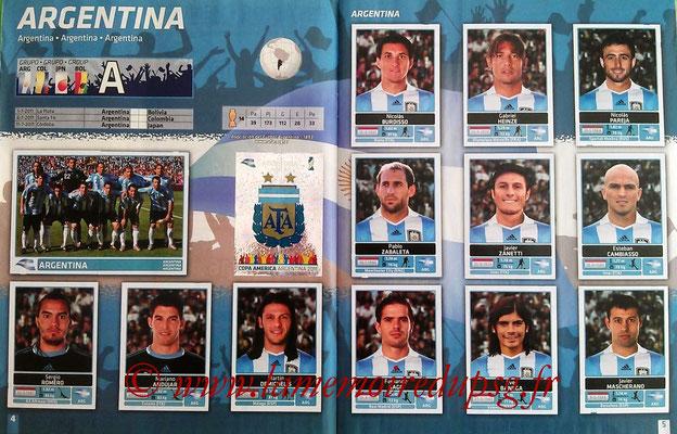 Panini Copa América Argentina 2011 - Pages 04 et 05 - Argentine