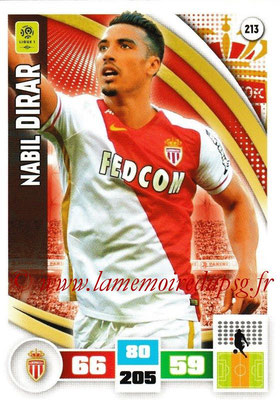 2016-17 - Panini Adrenalyn XL Ligue 1 - N° 213 - Nabil DIRAR (Monaco)