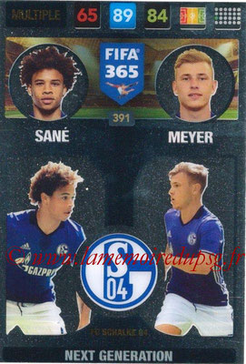 2016-17 - Panini Adrenalyn XL FIFA 365 - N° 391 - SANE + MEYER (FC Schalke 04) (Next Generation)