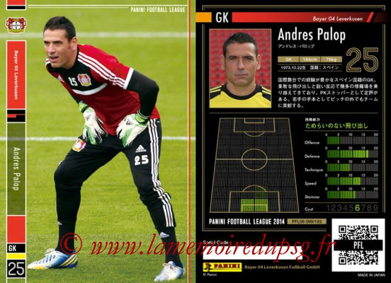 Panini Football League 2014 - PFL06 - N° 099 - Andres PALOP (Bayer 04 Leverkusen)
