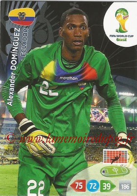 2014 - Panini FIFA World Cup Brazil Adrenalyn XL - N° 119 - Alexander DOMINGUEZ (Equateur)