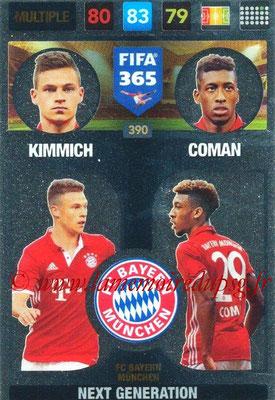2016-17 - Panini Adrenalyn XL FIFA 365 - N° 390 - KIMMICH + COMAN (FC Bayern Munich) (Next Generation)