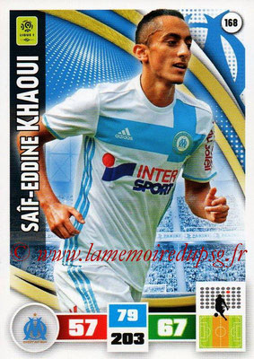 2016-17 - Panini Adrenalyn XL Ligue 1 - N° 168 - Saif-Eddine KHAOUI (Marseille)