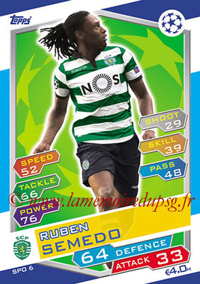 2016-17 - Topps UEFA Champions League Match Attax - N° SPO6 - Ruben SEMEDO (Spor ting Club de Portugal)