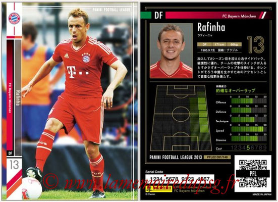 Panini Football League 2013 - PFL02 - N° 091 - Rafinha ( FC Bayern Munchen )
