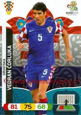 Panini Euro 2012 Cards Adrenalyn XL - N° 105 - Vedran CORLUKA (Croatie)