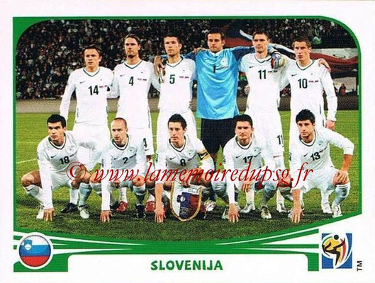 2010 - Panini FIFA World Cup South Africa Stickers - N° 239 - Équipe Slovenie