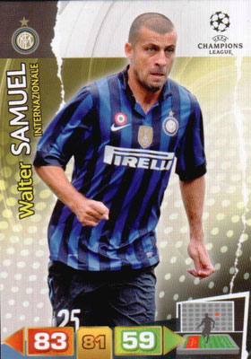 2011-12 - Panini Champions League Cards - N° 109 - Walter SAMUEL (Inter Milan)