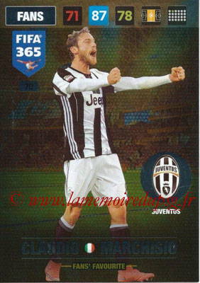 2016-17 - Panini Adrenalyn XL FIFA 365 - N° 070 - Claudio MARCHISIO (Juventus FC) (Fans' Favourite)