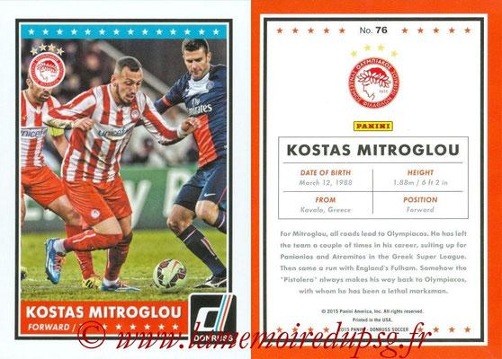 2015 - Panini Donruss Soccer - N° 076 - Kostas MITROGLOU (Olympiacos FC)