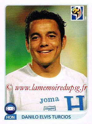 2010 - Panini FIFA World Cup South Africa Stickers - N° 613 - Danilo Elvis TURCIOS (Honduras)