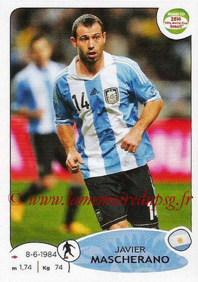 2014 - Panini Road to FIFA World Cup Brazil Stickers - N° 065 - Javier MASCHERANO (Argentine)