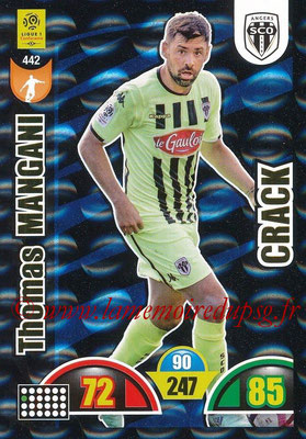 2018-19 - Panini Adrenalyn XL Ligue 1 - N° 442 - Thomas MANGANI (Angers) (Crack)