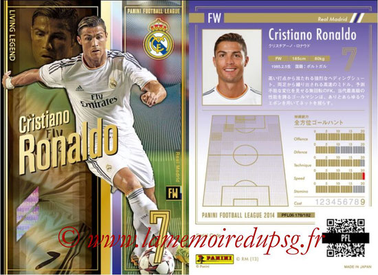 Panini Football League 2014 - PFL06 - N° 178 - Cristiano RONALDO (Real Madrid) (Living Legend)