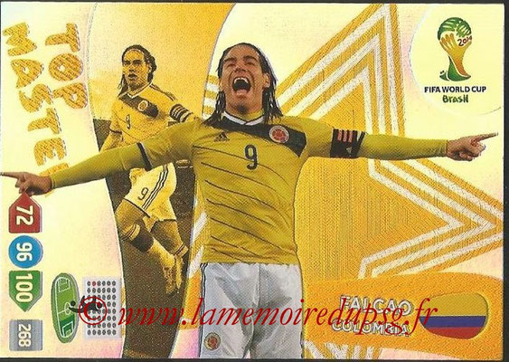 2014 - Panini FIFA World Cup Brazil Adrenalyn XL - N° 408 - FALCAO (Colombie) (Top Master)