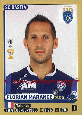 2015-16 - Panini Ligue 1 Stickers - N° 056 - Florian MARANGE (SC Bastia)