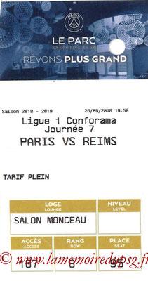 Tickets  PSG-Stade Reims  2018-19